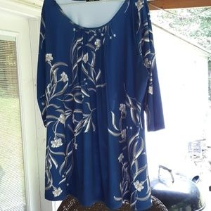 Lily 3xl tunic blue gray